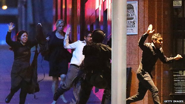 Hostages escape during Sydney cafe siege