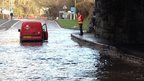 Flooding on A487