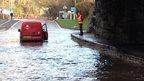 Flooding on A487