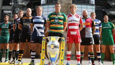 Premiership rugby players