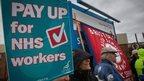 NHS workers on strike