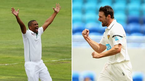Vernon Philander and Ben Hilfenhaus
