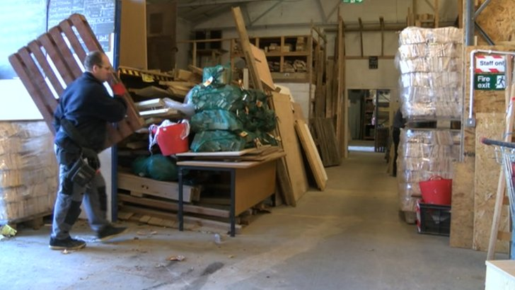 Wood recycling factory