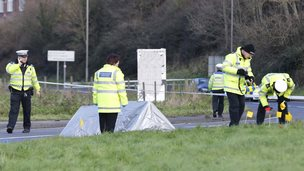 Scene of the crash in Newhaven