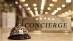 Concierge sign and bell