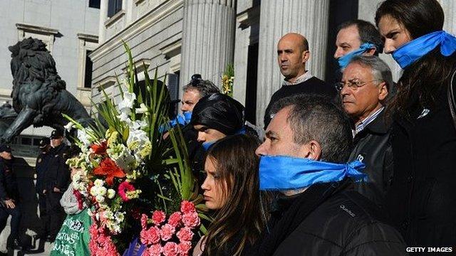 Spain citizen security law protest