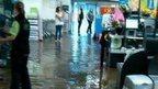 ASDA in Arnold flooded