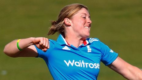 England's Heather Knight