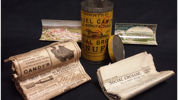 The contents of the time capsule
