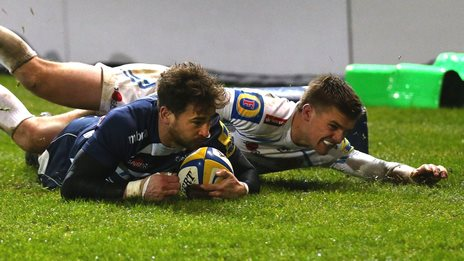 Danny Cipriani try against Exeter