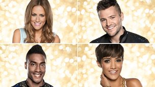 Caroline Flack, Mark Wright, Frankie Bridge and Simon Webbe