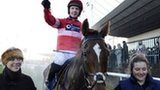 Noel Fehily and Silviniaco Conti after winning the 2013 King George