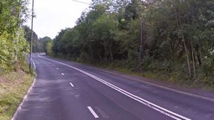 A stretch of the a472 between Pontypool and Hafodyrynys