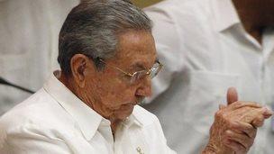 Cuban President Raul Castro speaks at National Assembly in Havana. Photo: 20 December 2014