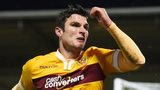 John Sutton celebrates for Motherwell
