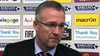 VIDEO: Lambert unhappy with red card