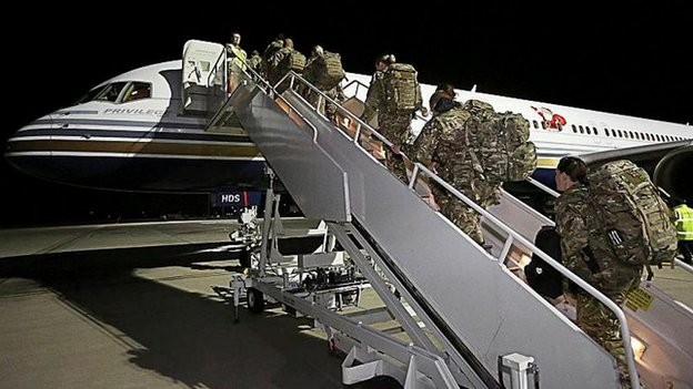 First UK reservists join Ebola fight...