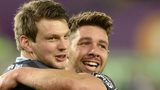 Dan Biggar and Rhys Webb celebrate