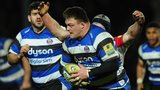 Bath's David Wilson on the charge