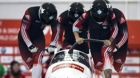 Canada's four-person bobsleigh team