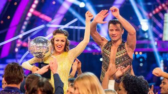 Caroline Flack and partner Pasha