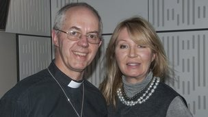 Justin Welby and Desert Island Discs host Kirsty Young