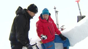 Rescuers trying to stop an avalanche