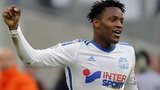 Marseille forward Michy Batshuayi celebrates his side's winner against Lille