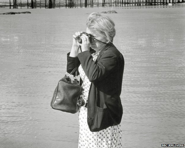 Jane Bown on Hastings Beach