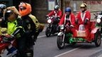 Motorbike Santa run in Cambridge