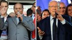 Moncef Marzouki and Beji Caid Essebsi, the two candidates in Tunisia's presidential run-off election