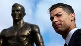 Cristiano Ronaldo at the unveiling of a statue of himself