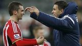 Sunderland winger Adam Johnson and manager Gus Poyet