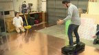 Richard Taylor on hoverboard
