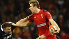 Liam Williams looks for support during Wales' match with Scotland in 2014
