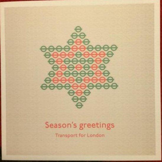 TfL Christmas card
