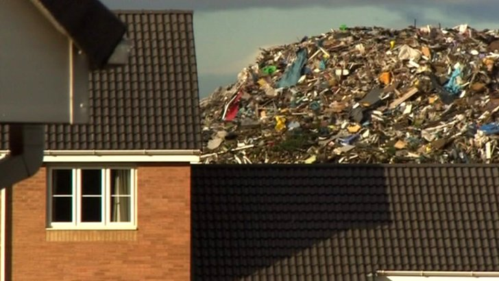 Rubbish piling high in Brierley Hill