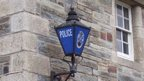 Police sign lamp