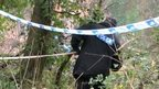 Police carried out searches of an area of the Avon Gorge