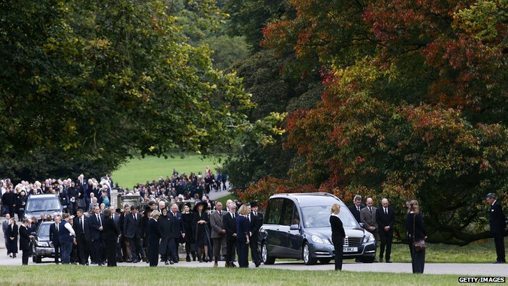 Funeral for Deborah, Dowager Duchess of Devonshire