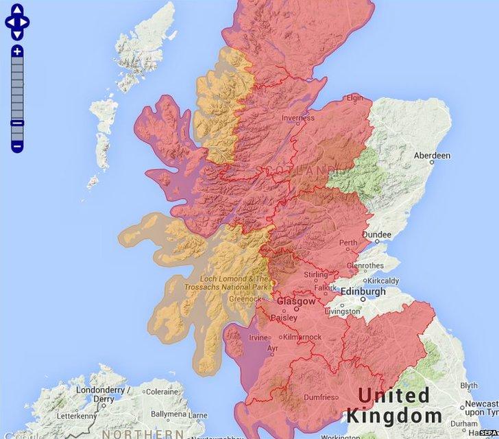 Flood warnings from SEPA