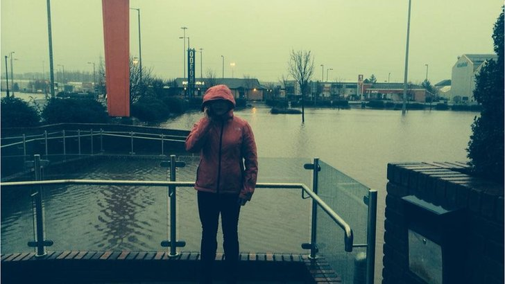 Catriona Renton by flooding in Kilmarnock