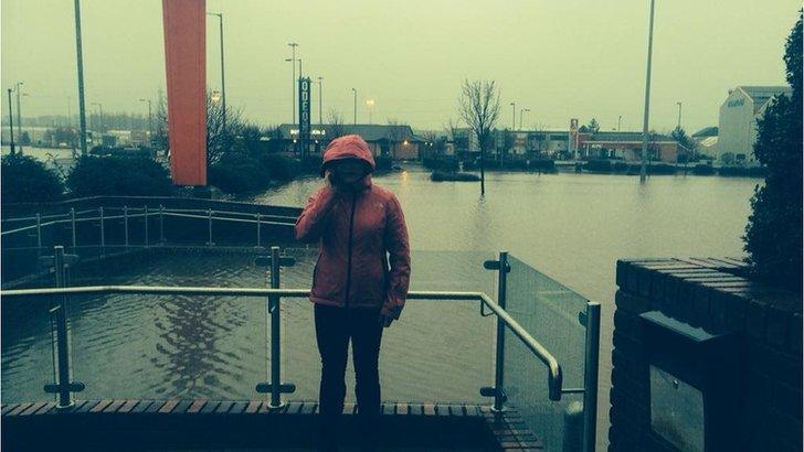 Catriona Renton by flooding in Kilmarnock