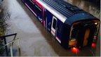 Train in floodwater