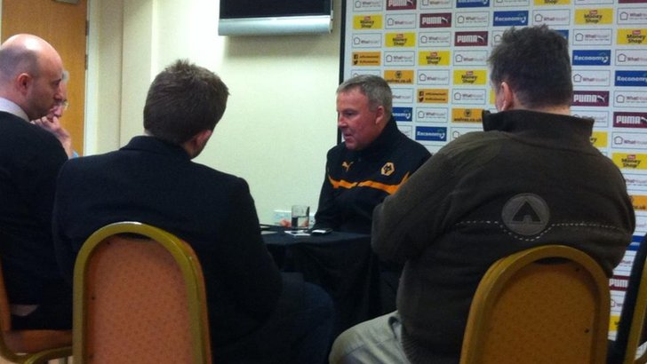 Kenny Jackett being interviewed