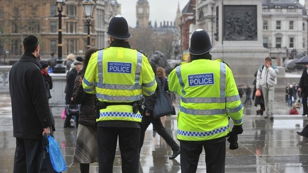 Officers from the Metropolitan Police