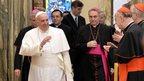 Pope Francis meeting cardinals, 22 Dec 14