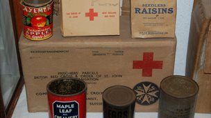 Food parcels delivered to the Channel Islands, held by the Guernsey Occupation Museum