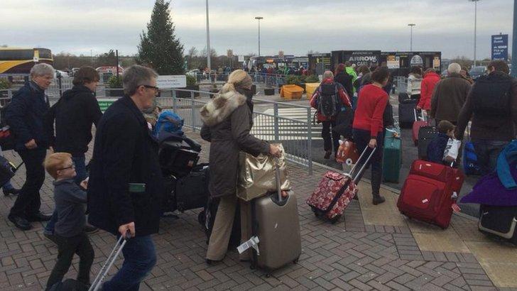 Passengers at Leeds Bradford