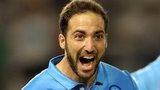 Gonzalo Higuain celebrates scoring